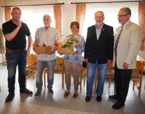 Geehrt für lange Mitgliedschaft : Werner Leib, Sabine Mono, Reinhard Sprung.